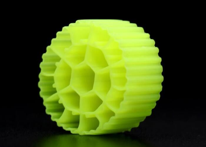 Yellow Mbbr Plastic Bio Balls Filter Media For Aquarium 25mm X 12mm Hot Mould